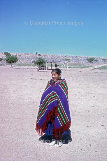 Navajo Woman with Blanket