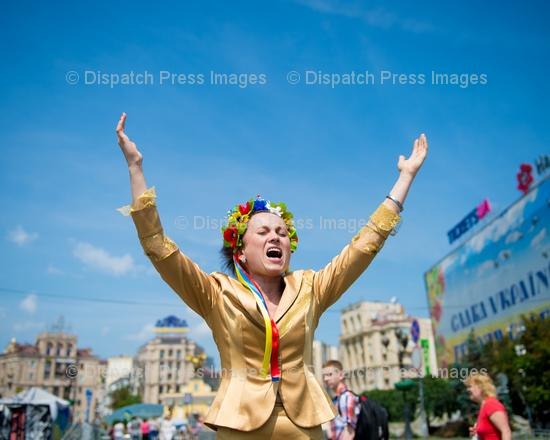 Ukrainian Woman Shouting