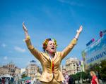 Ukrainian Woman Shouting